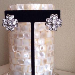 Crystalized Flower Earrings. Last One