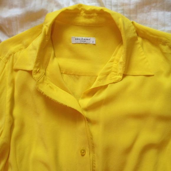 Yellow Equipment Blouse 93