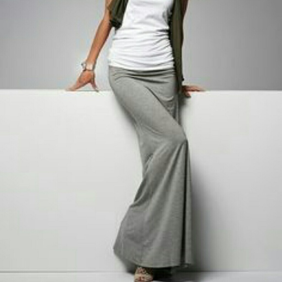SALE!! Light Grey Maxi Skirt S M from A_'s closet on Poshmark