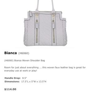 Melie Bianco Bags - ❎SOLD❎  White vegan leather woven purse 4