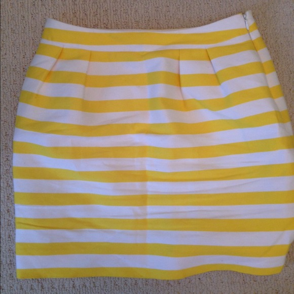 82c0b6a3b2 kate spade Skirts | Yellow And White Striped Skirt Size 6 | Poshmark