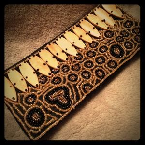 $15 BLACK FRIDAY!! Hand Beaded Vintage Clutch