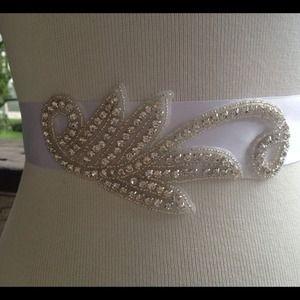 Rhinestone bridal sash. Wedding bridal sash belt