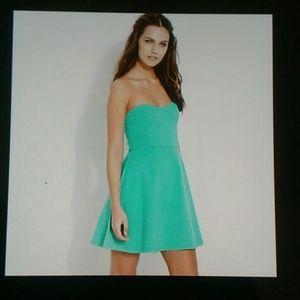 Forever 21 Green Sweetthing Tube Dress SZ M NWOT