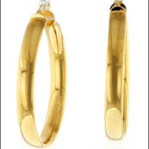 Jewelry - Thick Round 18kt Gold Plated Hoops