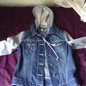 Cute denim sweater / hoodie / jacket