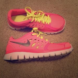 Nike hot pink gym shoes!