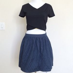 F21 High waisted full miniskirt