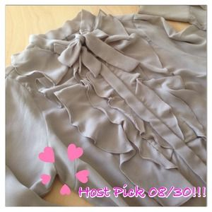 🎉HP 08/30🎉ZARA beautiful grey ruffle shirt