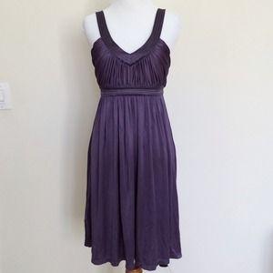 Purple BCBG jersey dress with gold thread 2