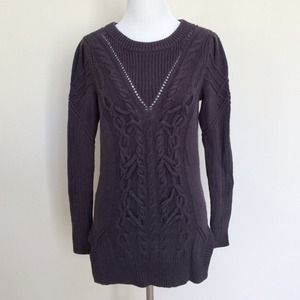 Cotton knit cable sweater tildon size S