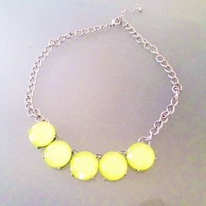 Accessories - Neon Yellow Statement Necklace