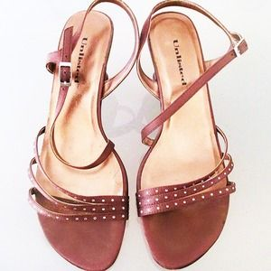Unlisted Shoes - Strappy Brown Heels