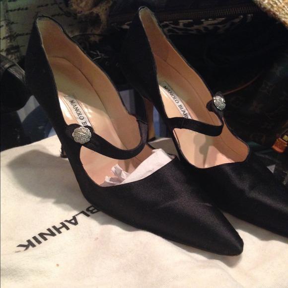 6d0a96df56a80 Manolo Blahnik Shoes | Vintage Silk Mary Janes | Poshmark