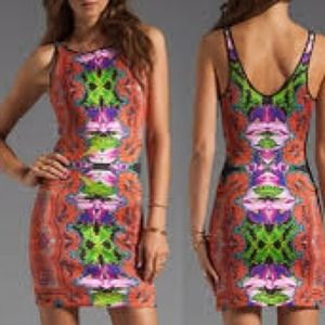 NWT Clover canyon floral body con dress.