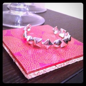 Bauble Bar silver studded cuff