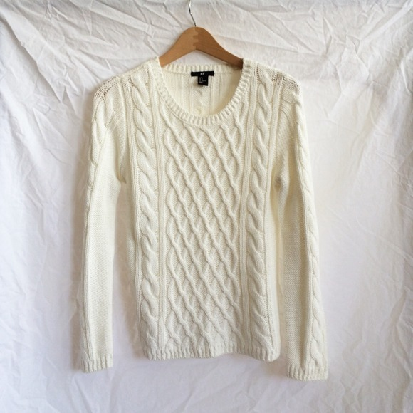 Hm Sweaters Hm Thick Cable Knit Sweater Poshmark