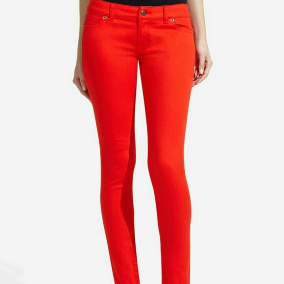 76% off The Limited Denim - The Limited 678 red jean leggings from ...