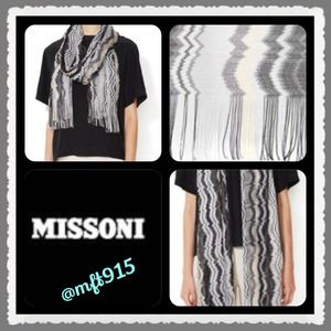 "💯Authentic Missoni NWT Scarf ""vertical wave"""