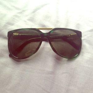 Pre-owned Havana green Gucci sunglasses