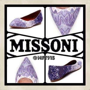 "💯Authentic Missoni NWT ""pointed toe flat"""