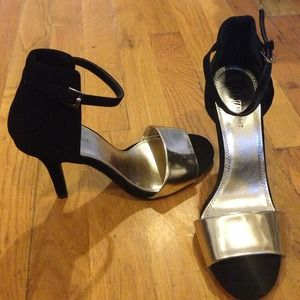 Shoes - Gold Strap Heels.. Great for New Years Eve.