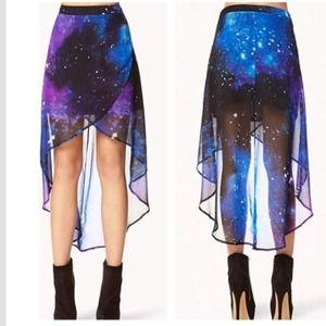 57 forever 21 dresses skirts galaxy print high