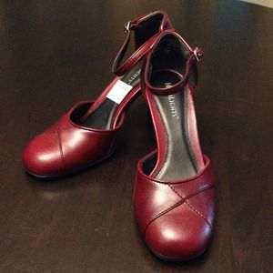 Shoes - Red heels with ankle straps