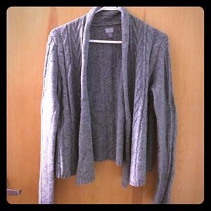 Converse One Star Gray Cable-Knit Cardigan
