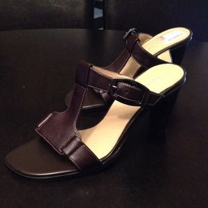 Shoes - Brown buckle sandals by Worthington