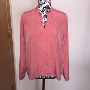 forever 21 pink blouse silky worn once