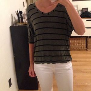 Splendid Green Striped Top - Small