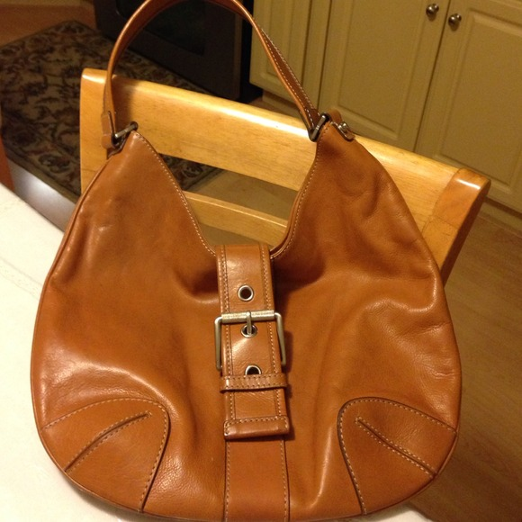 Michael Kors - Michael Kors all leather luggage color hobo bag ...
