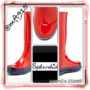 💯Authentic Splendid rain boots in red