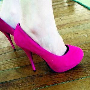 Rue21 Shoes - Fuchsia Heels