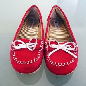 Shoes - Red Slip-Ons