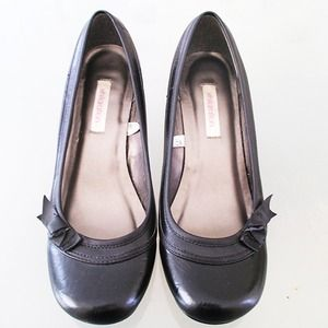 Xhilaration Shoes - Black Heels with Bow Detail