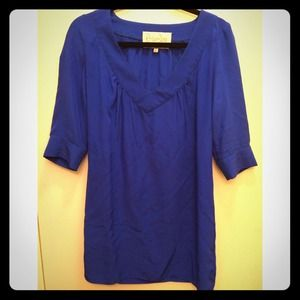 Rory Beca electric blue silk tunic top