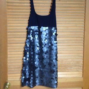 Navy & Sequin  Dress