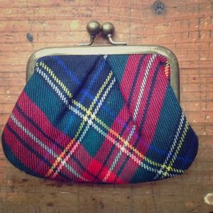 J. Crew Wool Tartan Plaid Coin Purse