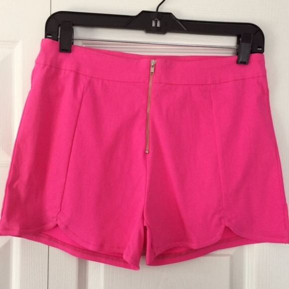 56% off ICON Pants - Hot Pink High Waisted Shorts from Ariana's ...