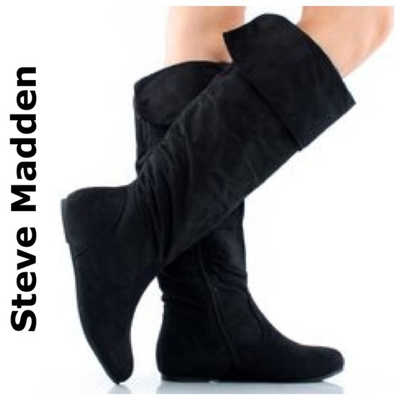 38% off Steve Madden Boots - NEW STEVE MADDEN black suede leather ...