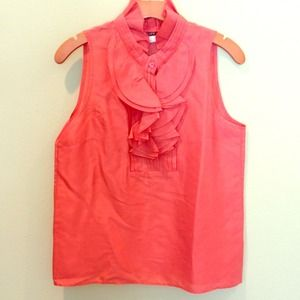 J. Crew Tops - Coral J. Crew sleeveless blouse