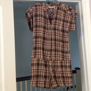 Zara flannel plaid fall romper