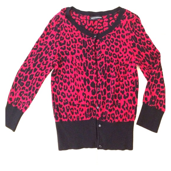 Express - Express Design Studio red leopard cardigan from ...