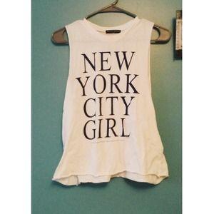 Brandy Melville Tops - Brandy Melville 💙 New York City Girl Muscle Tank 515edd3ced9