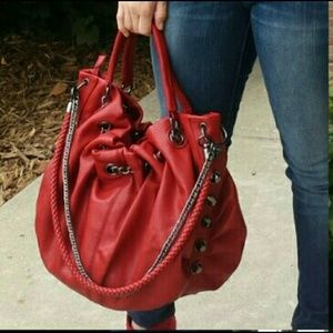 Red burgundy JustFab purse