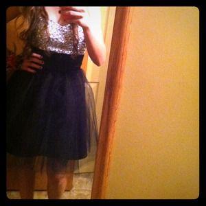 Dresses & Skirts - Short Black Rhinestone Homecoming Dress!