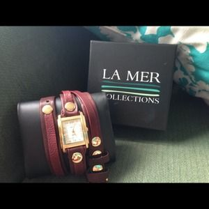 HOST PICK  La Mer Leather Wrap Watch