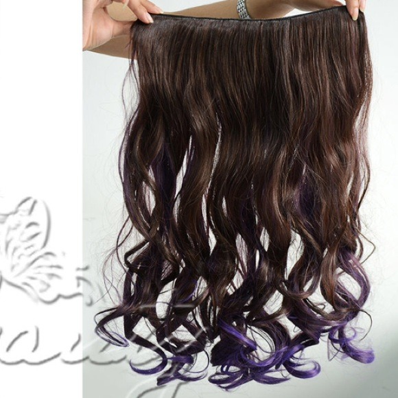 Brown Purple Ombre Hair Extensions 91